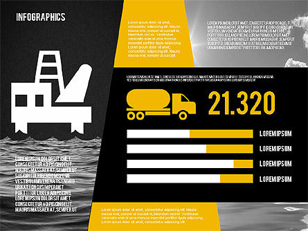 Mining and Oil Production Infographics, Slide 13, 01954, Presentation Templates — PoweredTemplate.com