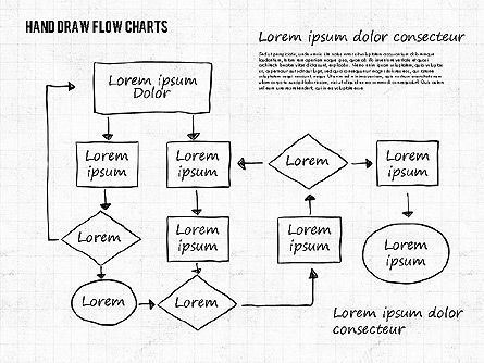 Flow Charts: Hand Drawn Flow Charts #01955