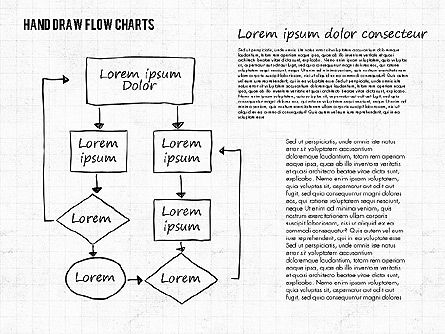 Hand Drawn Flow Charts, Slide 2, 01955, Flow Charts — PoweredTemplate.com