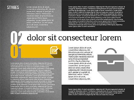 Agenda in Flat Design, Slide 10, 01956, Stage Diagrams — PoweredTemplate.com