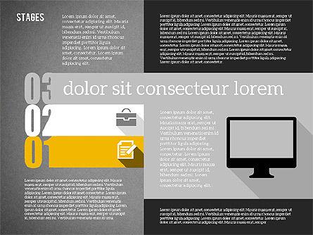 Agenda in Flat Design, Slide 11, 01956, Stage Diagrams — PoweredTemplate.com