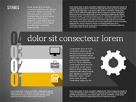 Agenda in Flat Design, Slide 12, 01956, Stage Diagrams — PoweredTemplate.com