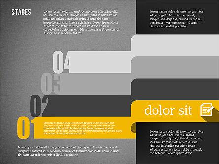 Agenda in Flat Design, Slide 13, 01956, Stage Diagrams — PoweredTemplate.com