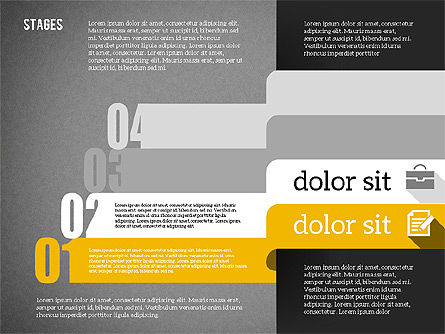 Agenda in Flat Design, Slide 14, 01956, Stage Diagrams — PoweredTemplate.com