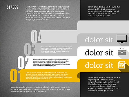 Agenda in Flat Design, Slide 15, 01956, Stage Diagrams — PoweredTemplate.com
