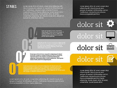 Agenda in Flat Design, Slide 16, 01956, Stage Diagrams — PoweredTemplate.com