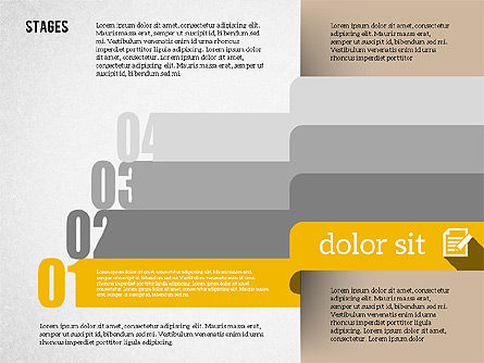 Agenda in Flat Design, Slide 5, 01956, Stage Diagrams — PoweredTemplate.com