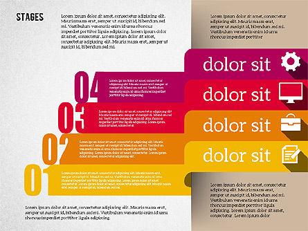 Agenda in Flat Design, Slide 8, 01956, Stage Diagrams — PoweredTemplate.com
