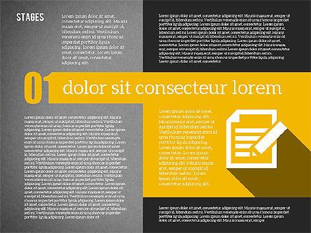 Agenda in Flat Design, Slide 9, 01956, Stage Diagrams — PoweredTemplate.com