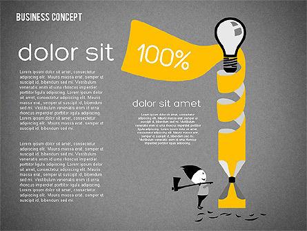 Creative Business Concept Shapes, Slide 12, 01958, Shapes — PoweredTemplate.com