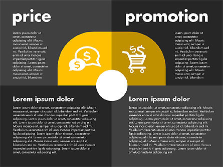 Marketing Mix with Icons, Slide 10, 01962, Business Models — PoweredTemplate.com