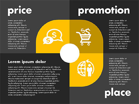 Marketing Mix with Icons, Slide 11, 01962, Business Models — PoweredTemplate.com