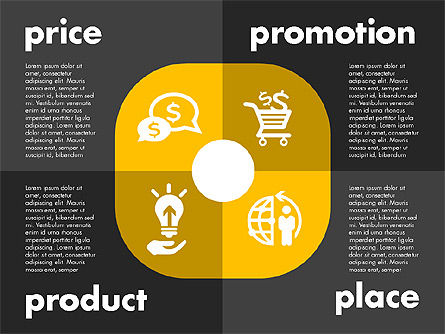 Marketing Mix with Icons, Slide 12, 01962, Business Models — PoweredTemplate.com