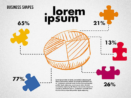 Pie Chart and Puzzles, 01963, Pie Charts — PoweredTemplate.com