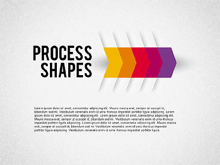 Step by Step Process Arrow, 01964, Process Diagrams — PoweredTemplate.com