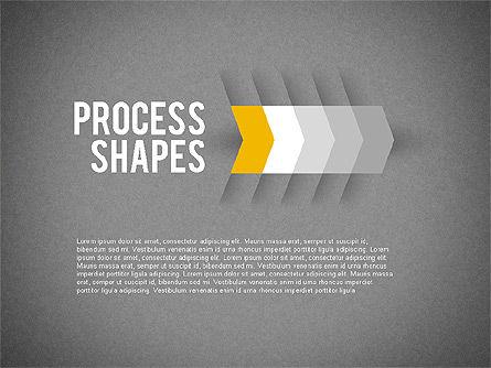 Step by Step Process Arrow, Slide 9, 01964, Process Diagrams — PoweredTemplate.com