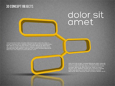 Creative 3D Objects Kit, Slide 10, 01967, Shapes — PoweredTemplate.com