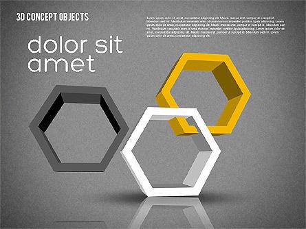 Creative 3D Objects Kit, Slide 12, 01967, Shapes — PoweredTemplate.com