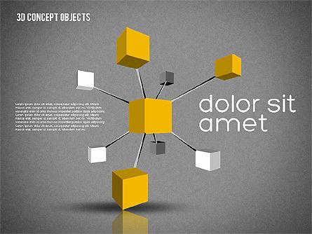 Creative 3D Objects Kit, Slide 14, 01967, Shapes — PoweredTemplate.com
