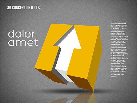 Creative 3D Objects Kit, Slide 15, 01967, Shapes — PoweredTemplate.com