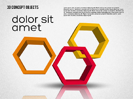 Creative 3D Objects Kit, Slide 4, 01967, Shapes — PoweredTemplate.com
