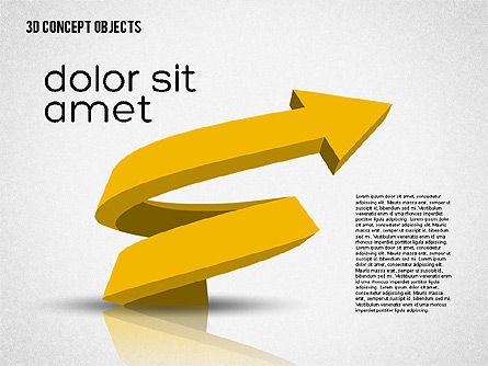 Creative 3D Objects Kit, Slide 5, 01967, Shapes — PoweredTemplate.com