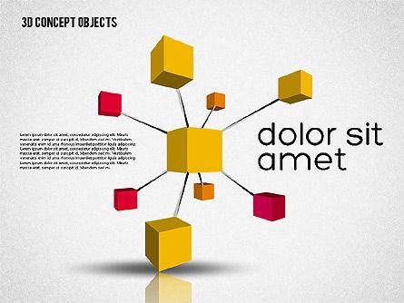 Creative 3D Objects Kit, Slide 6, 01967, Shapes — PoweredTemplate.com