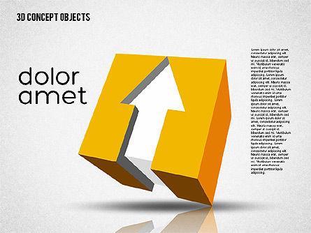 Creative 3D Objects Kit, Slide 7, 01967, Shapes — PoweredTemplate.com