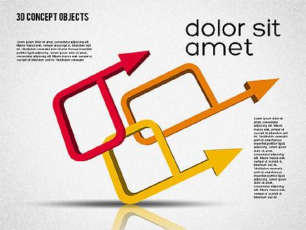 Creative 3D Objects Kit, Slide 8, 01967, Shapes — PoweredTemplate.com
