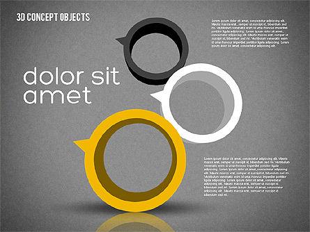 Creative 3D Objects Kit, Slide 9, 01967, Shapes — PoweredTemplate.com