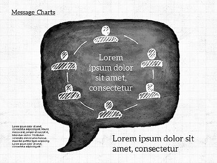 Speech Bubble with Diagrams, Slide 3, 01969, Business Models — PoweredTemplate.com