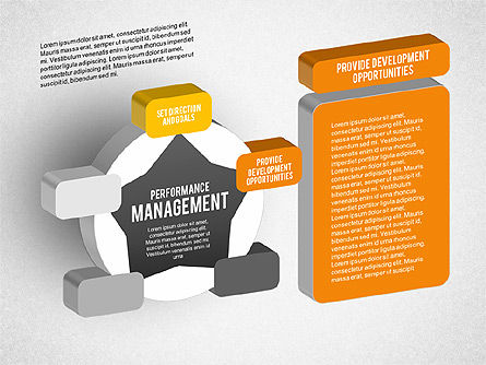 3D Performance Management Star Diagram, Slide 4, 01973, Business Models — PoweredTemplate.com