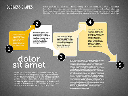 Process Shapes Collection in Flat Design, Slide 10, 01976, Process Diagrams — PoweredTemplate.com