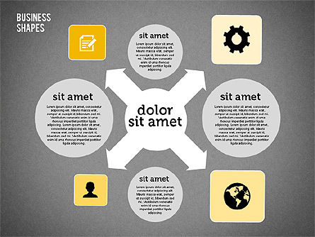 Process Shapes Collection in Flat Design, Slide 11, 01976, Process Diagrams — PoweredTemplate.com