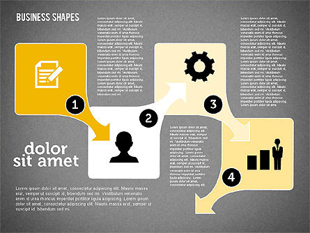 Process Shapes Collection in Flat Design, Slide 12, 01976, Process Diagrams — PoweredTemplate.com