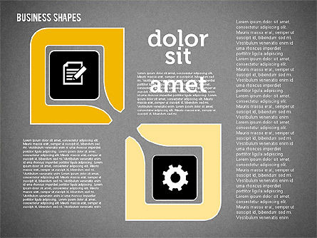 Process Shapes Collection in Flat Design, Slide 16, 01976, Process Diagrams — PoweredTemplate.com