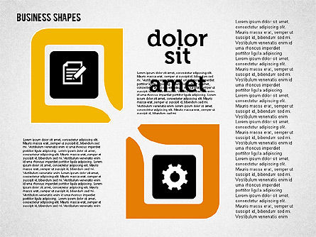 Process Shapes Collection in Flat Design, Slide 8, 01976, Process Diagrams — PoweredTemplate.com