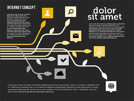 Social Networking Diagram in Flat Design, Slide 10, 01977, Business Models — PoweredTemplate.com