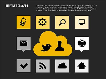 Social Networking Diagram in Flat Design, Slide 11, 01977, Business Models — PoweredTemplate.com