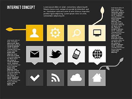Social Networking Diagram in Flat Design, Slide 16, 01977, Business Models — PoweredTemplate.com