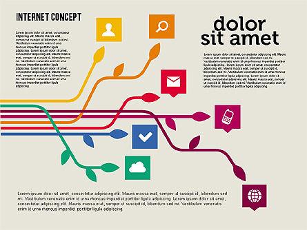 Social Networking Diagram in Flat Design, Slide 2, 01977, Business Models — PoweredTemplate.com