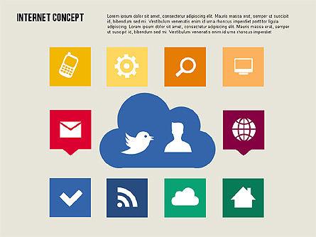 Social Networking Diagram in Flat Design, Slide 3, 01977, Business Models — PoweredTemplate.com