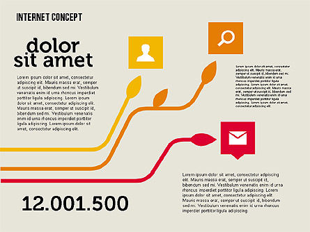 Social Networking Diagram in Flat Design, Slide 4, 01977, Business Models — PoweredTemplate.com