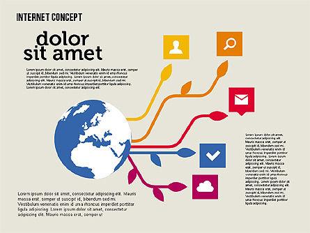 Social Networking Diagram in Flat Design, Slide 6, 01977, Business Models — PoweredTemplate.com