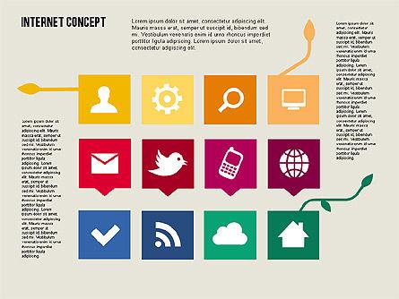 Social Networking Diagram in Flat Design, Slide 8, 01977, Business Models — PoweredTemplate.com