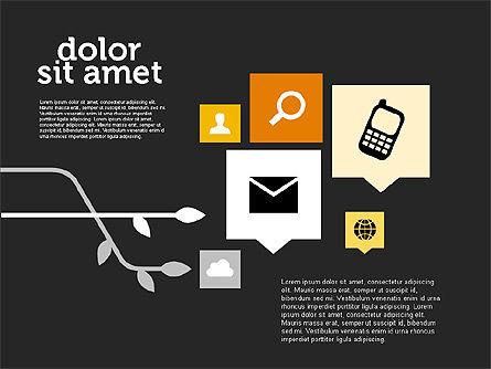 Social Networking Diagram in Flat Design, Slide 9, 01977, Business Models — PoweredTemplate.com