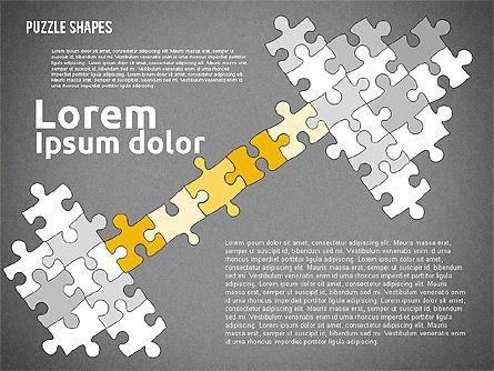 Puzzle Theme Presentation, Slide 13, 01980, Puzzle Diagrams — PoweredTemplate.com