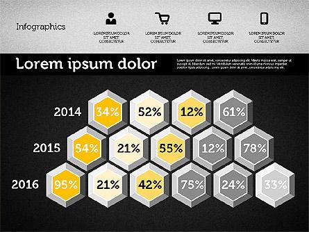 Presentation with Inforgraphics in Flat Design, Slide 10, 01982, Presentation Templates — PoweredTemplate.com