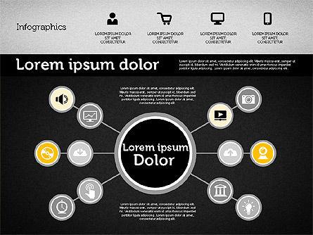 Presentation with Inforgraphics in Flat Design, Slide 12, 01982, Presentation Templates — PoweredTemplate.com