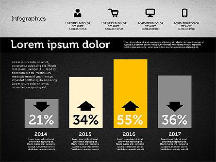 Presentation with Inforgraphics in Flat Design, Slide 13, 01982, Presentation Templates — PoweredTemplate.com
